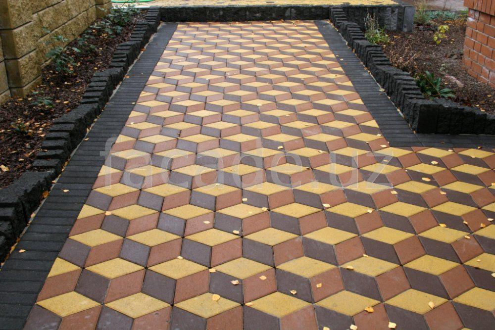 Бетонная плитка тротуарная с рисунком